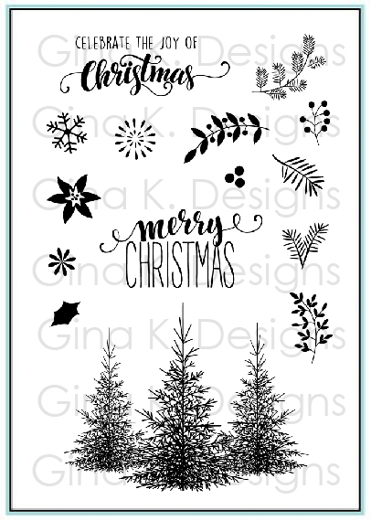Christmas Greenery.Clear Stamps Christmas Greenery