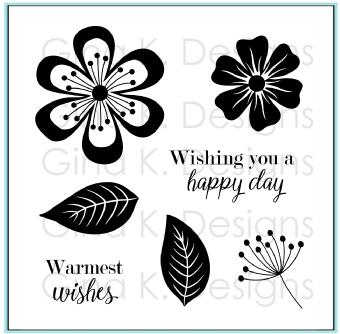 Clear Mini Stamps-Fancy Flowers