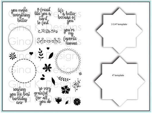 bundle stamps and templates wreath builder gina k designs