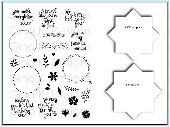 Stamp Template | Bundle Stamps And Templates Wreath Builder Gina K Designs