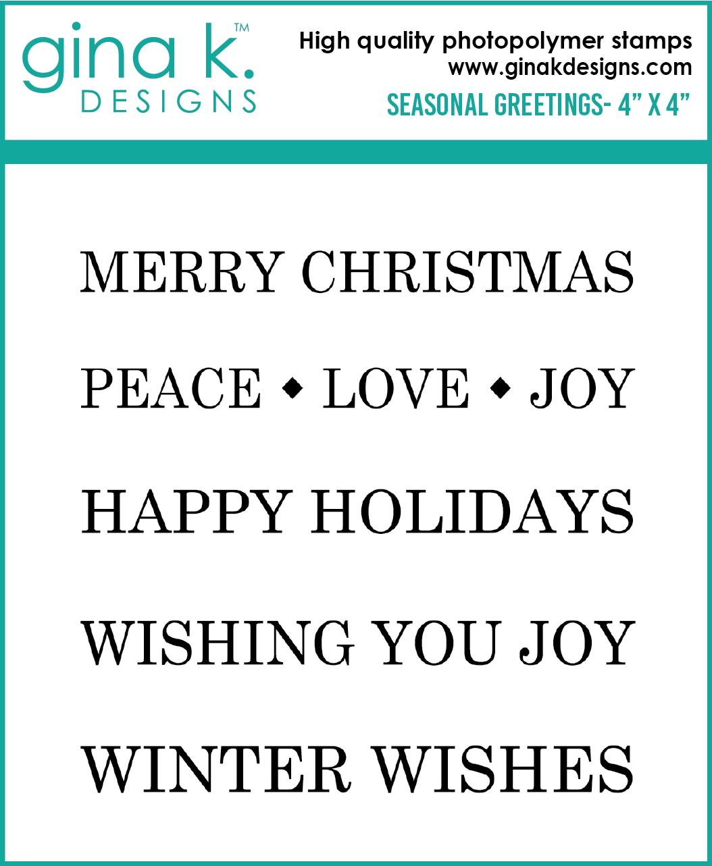 Gina K Seasonal Greetings