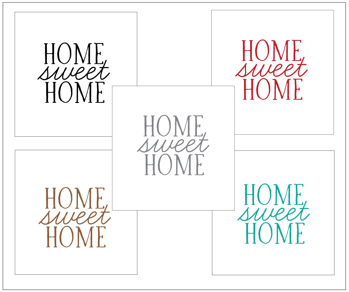 photograph relating to Home Sweet Home Printable known as Mega Design and style- Printable- House Adorable Household
