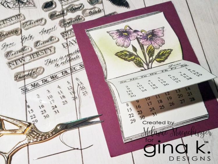 Create an Interactive Calendar Card with Open Book - Gina K
