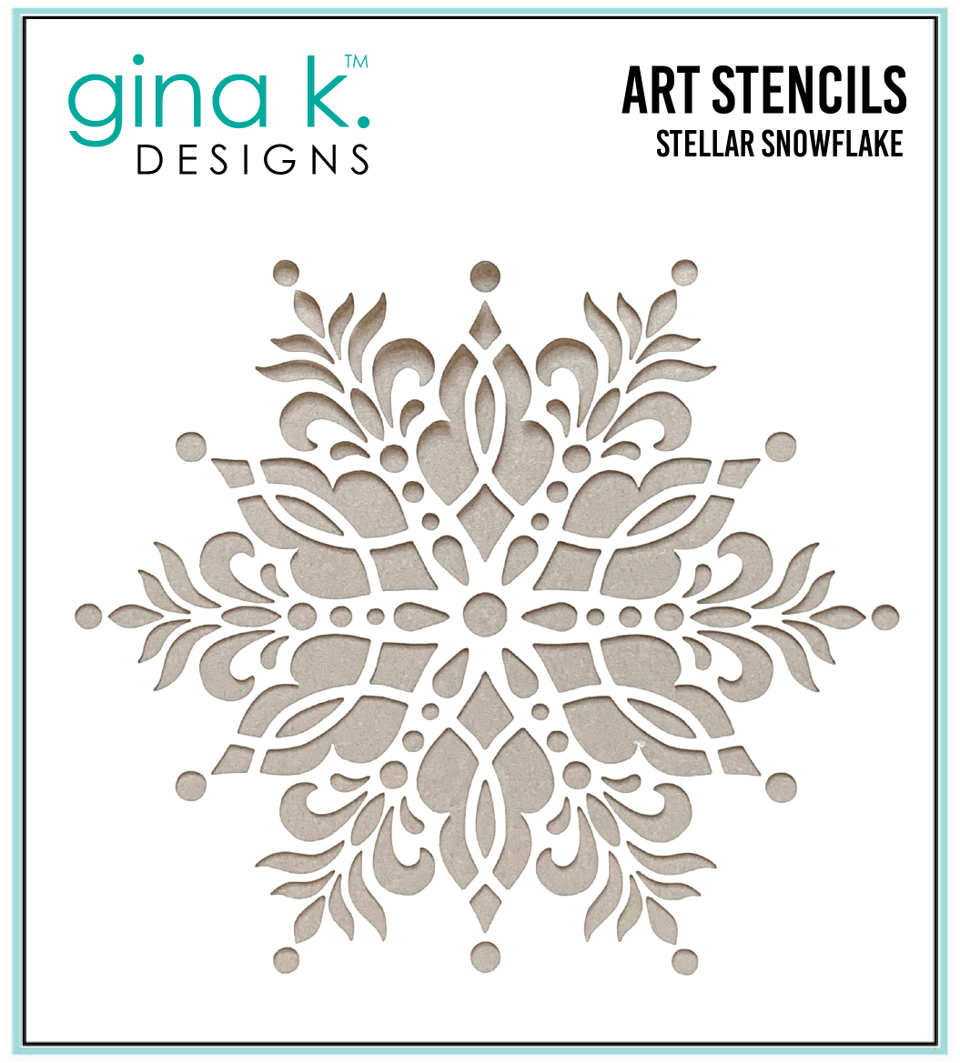 Gina K Stellar Snowflake Stencil